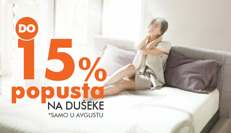 Up to 15% discount on mattresses